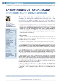 Market & Research - Active Funds vs Benchmark : Performance Comparison